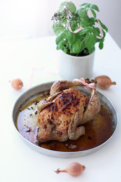kurczak pieczony z czosnkiem i cebula 4