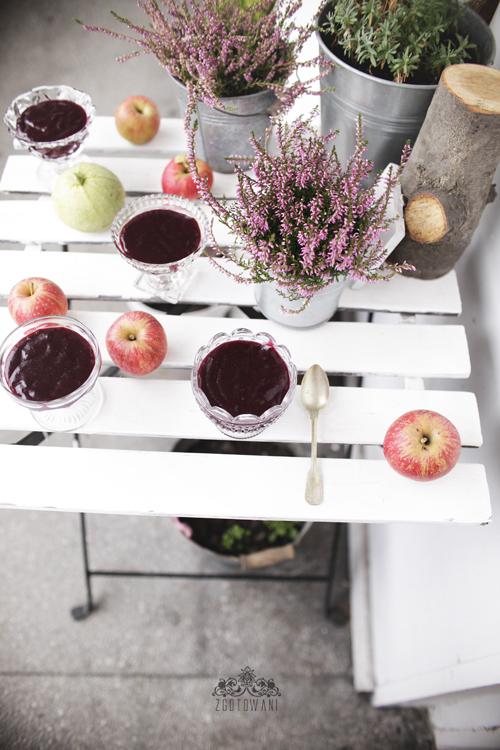 kisiel z czerwonych winogron i jablek 3