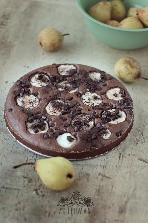 czekoladowe brownie-z-gruszkami-6